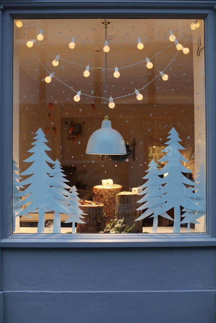 decorare finestre per natale